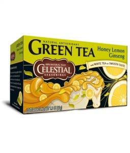 Kräuter Tee mit Honig, Limone und Ginseng