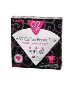 Hario - Papier Filter Misarashi 40 Stück Größe 2