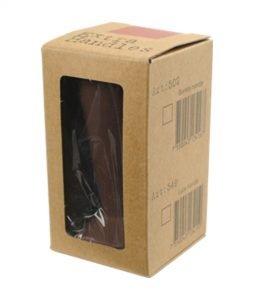 """Abbildung eines Tampergriffs in der Farbe braun, für den """"Espresso Gear"""" Tamper der Reihe """"Luce""""."""
