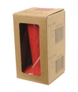 """Abbildung eines Tampergriffs in der Farbe rot, für den """"Espresso Gear"""" Tamper der Reihe """"Luce""""."""