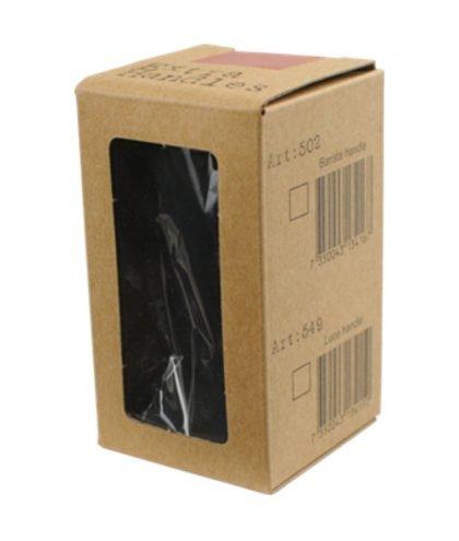 """Abbildung eines Tampergriffs in der Farbe schwarz, für den """"Espresso Gear"""" Tamper der Reihe """"Luce""""."""