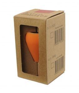 Abbildung eines Espresso Gear Tampergriffs in der Farbe orange.