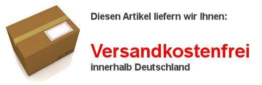 Abbildung eines Versandkartons mit der Hinweis auf versandkostenfreie Lieferung innerhalb Deutschlands.