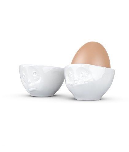 Fiftyeight Eierbecher mit Gesicht Och bitte & lecker von links.