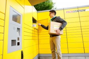 DHL Packstation 2014 Kunde Entnahme