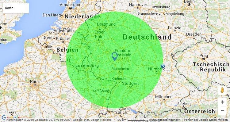 Umkreis Karte - Ingelheim am Rhein
