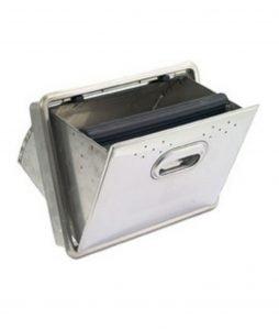 PRIOLINOX - Kaffeesatzbehälter ohne Bodenloch (zum Einbau)