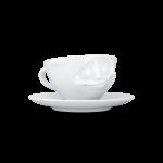 58 Espresso Tasse glücklich von vorne links