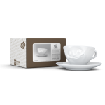58 Espresso Tasse glücklich mit Karton