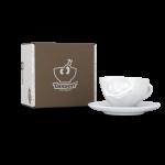 58 Espresso Tasse glücklich und Karton