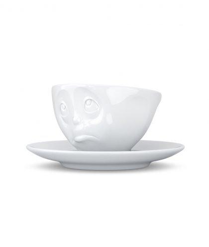 Fiftyeight Espresso Tasse mit Gesicht - Och bitte - von vorne rechts.