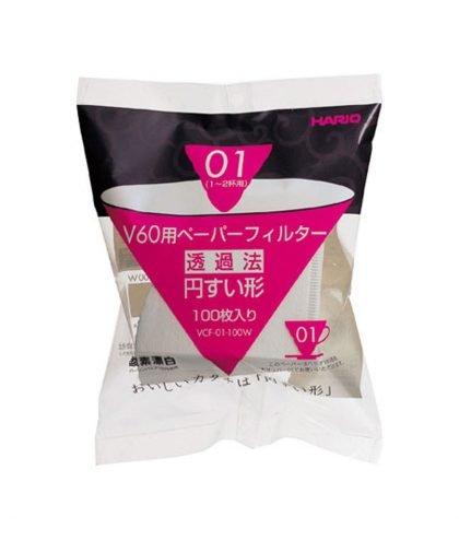 Hario Papierfilter VCF-01-100W weiß in Größe 01
