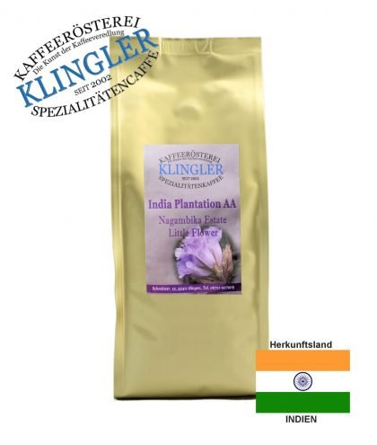 Klingler Lagenkaffee - India Plantation AA little flower