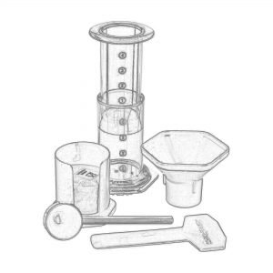 AeroPress Coffee Maker Set