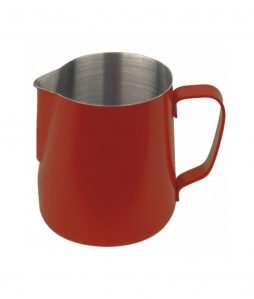 Milchkännchen 590ml rot pulverbeschichtet - rot