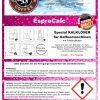 Etikett - Bennett-Coffee EsproCalc mit Farbindikator