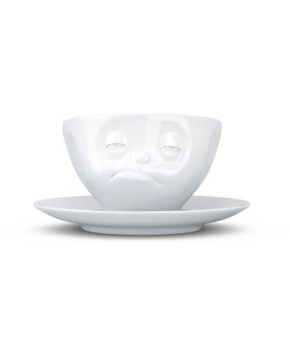 Fiftyeight Kaffee Tasse mit Gesicht verpennt