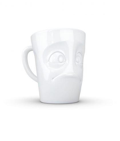 Fiftyeight Kaffee Becher MUG mit Gesicht verdutzt.