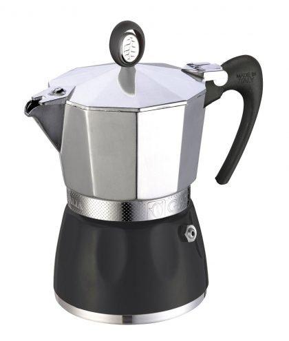 GAT Espressokocher - Diva für 6 Tassen in Alu/schwarz