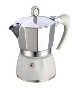 GAT Espressokocher Diva für 6 Tassen in weiss