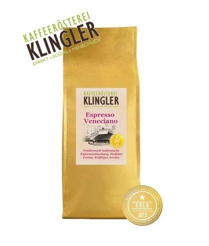 Klingler - italienischer Espresso Veneciano 500g in ganzen Bohnen