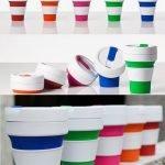 Stojo Cup - faltbarer Kaffeebecher in sechs farben