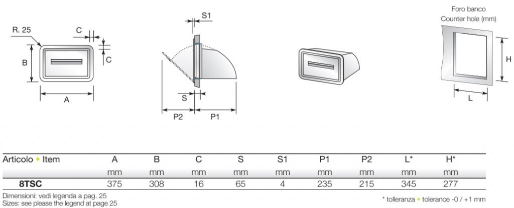 Priolinox - Sudbehälter / Sudkipper Abmessung